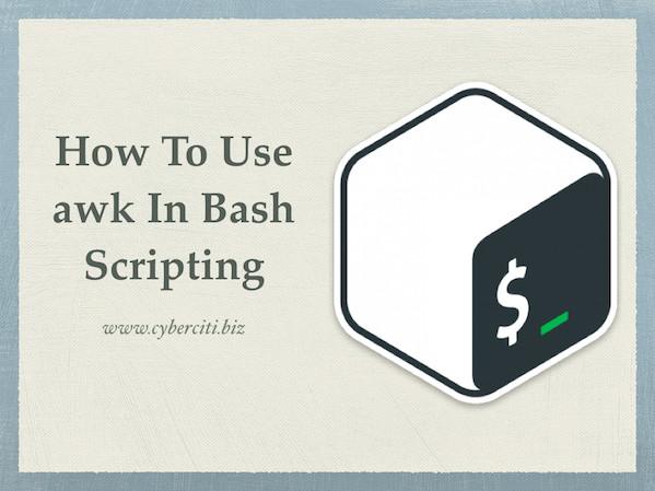 چگونگی استفاده از awk در اسکریپت نویسی bash
